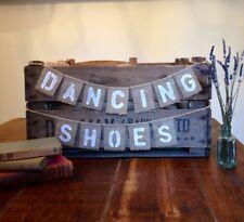 Hessian Mini Dancing Shoes - Rustic Vintage Wedding Banner / Burlap Bunting