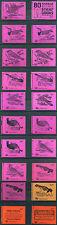 "1971-74 QEII Decimal ""Birds"" 30p Stitched Booklets DQ56-74"