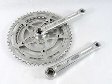 Stronglight 49D Crankset 170Mm French Thread 52-40 Chainrings Vintage Bike