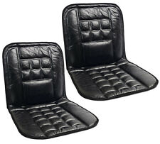 2 x LEATHER CAR ORTHOPAEDIC BACK CHAIR MASSAGE FRONT SEAT CUSHION PAIR COVER