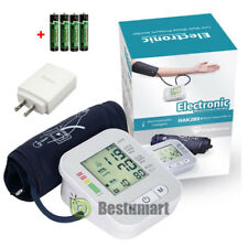 Automatic Digital Upper Arm Blood Pressure Monitor LCD Screen Heart Rate Beat US