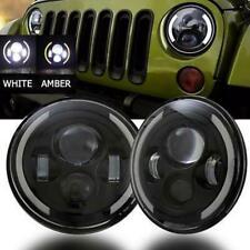 7 Inch Round LED Headlight Hi/Low Beam Halo Angle Eye For Jeep Wrangler JK LJ TJ