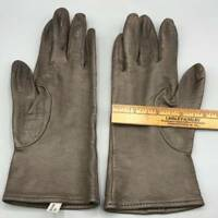 Vintage Brown Natural Leather Gloves.made in Italy size 7