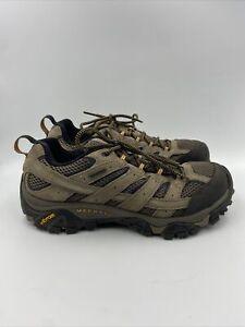 Merrell Men's Moab 2 WP Walnut hiking shoes size 8.5 M , 566