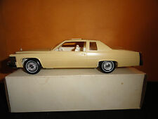 JO-HAN 1/25 1977 CADILLAC DEVILLE YELLOW DEALER PROMO MODEL CAR W/CORRECT BOX
