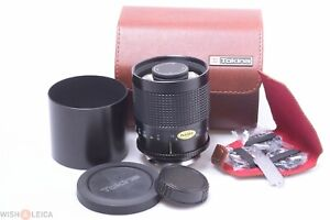 ✅ OLYMPUS OM TOKINA RMC 500MM 8 MIRROR LENS FOR SLR CAMERA. CAPS, CASE & FILTERS
