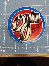 Nos Vintage Skateboard Sticker Santa Cruz Oj Ii Speed Wheels
