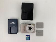 Canon PowerShot Digital ELPH SD1000 7.1MP Digital Camera  Bundle W/ 2 Batteries