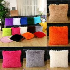Pillow Decorative Cushion Furry Case Covers Soft Luxury UK Plush Fluffy Scatter