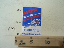 STICKER,DECAL ASSEN IJSSPEEDWAY HALVE FINALE WK 1988 HOLLAND ICE TRACK A