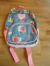 CLAIRE'S ACCESSORIES BLUE DENIM PINK FLORAL HEART GIRLS BACKPACK BAG BNWT