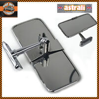 Stainless Steel UNIVERSAL Rear View Mirror Interior CLASSIC CAR