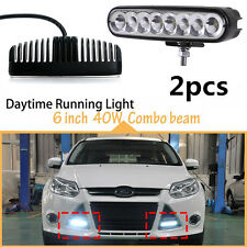 2pcs Waterproof 2in1 Flood Spot LED Work Light Offroad SUV Car Fog Driving Lamp