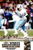 Houston Oilers William Fuller Signed Autographed 8x10 Photo (JSA PSA Pass) 757