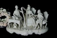 XL German antique UNTERWEISSBACH marked Bisque porcelain group musicians