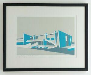 Sailing Academy, Portland (Dorset) original limited edition 3 colour screenprint