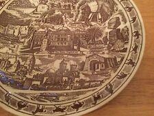 Vintage Arizona Collectors Souvenir Plate, Cowboy Trim, Vernon Kilns