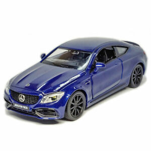 Mercedes C63 S AMG Coupe 1:32 Model Car Diecast Toy Vehicle Collection Gift Blue