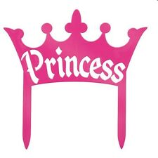 Princess Pink Crown Topper 4 x 4 Plastic Reusable Birthday Party