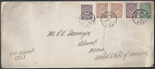 Turkey Us 1923 Tricolor Franked Cover Pera To Boston Mass