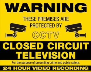 WARNING CCTV PROTECTED Personalised Metal SIGN NOTICE - office business security