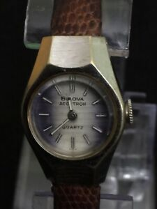 bulova Accutron womens watch vintage,beautiful Silver/grey Face Stainless Steel