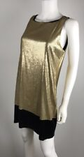 Michael Michael Kors Gold Black Sequin Holiday Cocktail Party Women Dress Sz 10