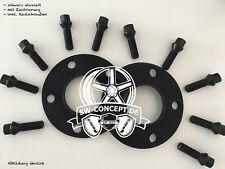 30mm 2x15mm Spurverbreiterung SCC VW mit Radschrauben 5x112 5x100 57,1 schwarz