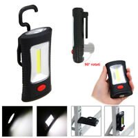 COB LED Flashlight Magnetic Work Light Rechargeable Power Bank Torch Lamp Hook