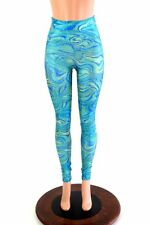 SMALL Tsunami Sparkle Festival Party Rave High Waist Leggings Ready To Ship!