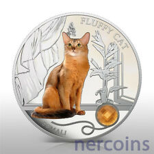 Fiji 2013 Cats & Dogs Somali $2 Silver Proof Coin with Crystal Low Coa