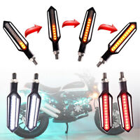 4 x moto coulant 24 LED indicateur de Signal de tour + blanc DRL + feu de freina