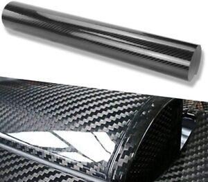 Black 5D Carbon Fibre Vinyl Wrap Sheet Film Sticker Car Wrap Air Bubble Free