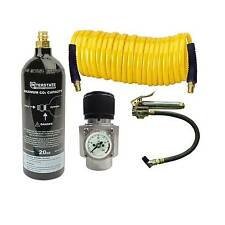 CO2 Regulator, Recoil Hose, TF3135 Tire Inflator & 20 oz CO2 Cylinder- WRCO2-TF2