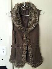 Faux Fur Regular Size Vests for Women