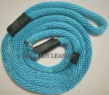 "SLIP LEAD/LEASH W/GUIDE-5/8"" x 6'-ROPE- L/XL DOGS-UP TO 200LBS  TURQUOISE(638)"