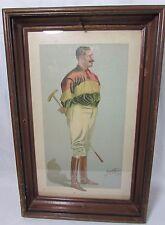 """1898 Vanity Fair Lithograph """"I Say"""" Neil Haig Polo George Algernon Fothergill"""