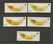 1972 MNH TONGA SELF ADHESIVE BANANA STAMP SET - SCOTT 297-302 - E43