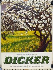 The Natural World of Ruth Dicker  Exhibition poster 1974