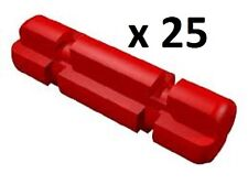 LEGO Bulk Technic Red Axle 2 Notched x25 9398 42006 8258 10247 42043 8043 NEW