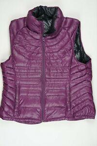BERNARDO Ladies XL Purple Puffer Vest  90% Down 10% Feathers Packable Light