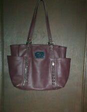 Nicole Miller Handbag Purse Tote Brown