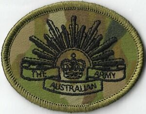 Army Australian Multicam Camouflage Uniform AMCU Rising Sun Biscuit Patch