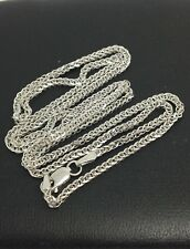 14K White Gold Foxtail Chain 20 Inches