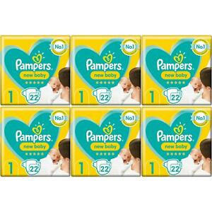 132 x Pampers New Baby, Size 1 - Carry Pack - With Protection For Sensitive Skin