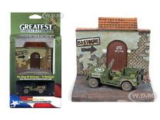 "WWII WILLYS MB JEEP & ""TO BASTOGNE"" DIORAMA 1/64 JOHNNY LIGHTNING JLDS001-BASTOG"