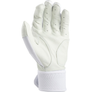 Rawlings Workhorse Batting Gloves with Compression Strap WHITE LG