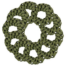 10 Braided Scrunchies Ten Olive Green Hair Twister Ponytails Girl's Hair Bobbles