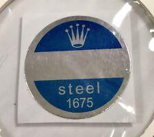 Rolex 1675 acciaio fondello Blu Adesivo certificato anni 1960 GMT MASTER PEPSI n.a.s