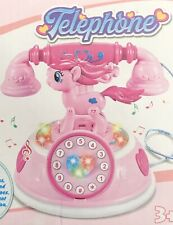 Toy Phone With Lighting Music Tones beautiful Pony Design
